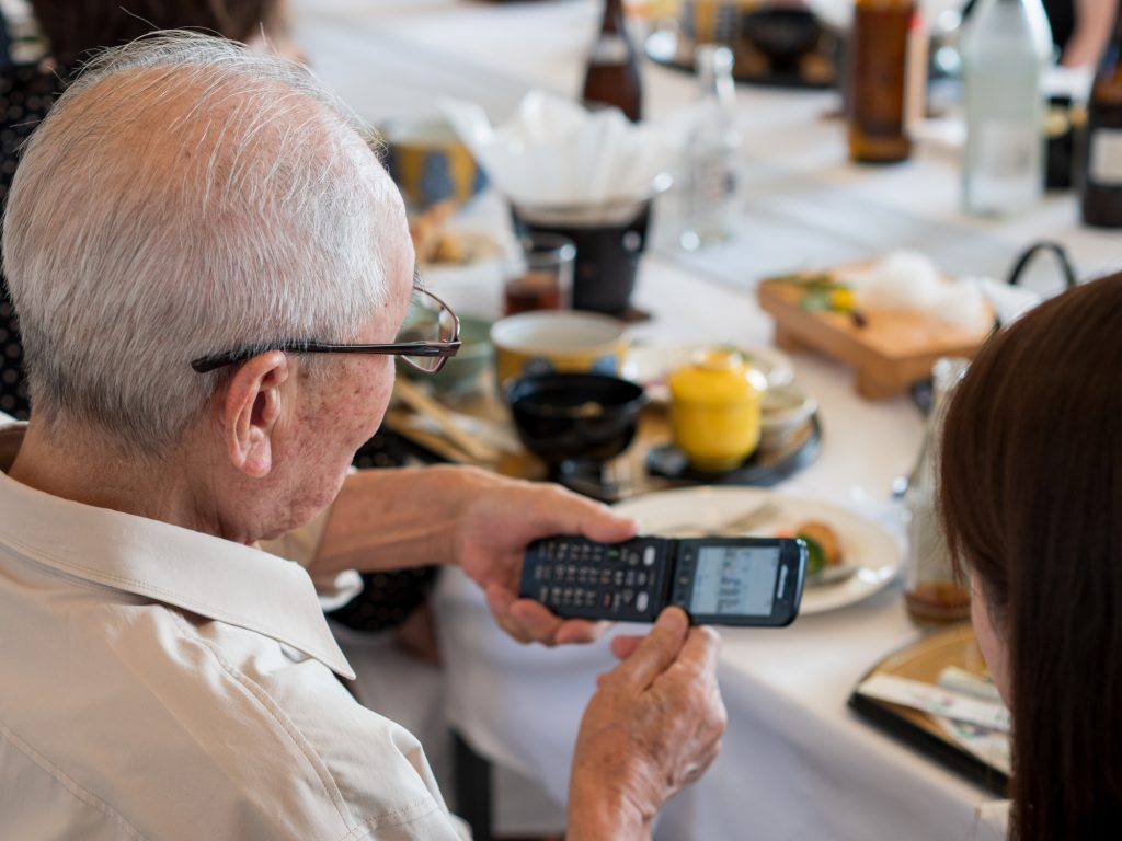 Flip phones make a great cell phone for seniors.